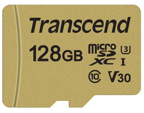 Transcend MicroSDXC UHS-3 V30 128GB w Adapter