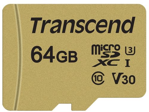 Transcend MicroSDXC UHS-3 V30 64GB w Adapter